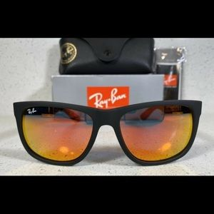 Ray-Ban Justin Red Mirror Flash Rb4165 Sunglasses